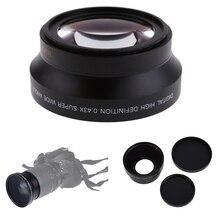 67mm cyfrowy 0.43 * SuPer szeroki kąt obiektywu z makro japonia optyka do Canon Rebel T5i T4i T3i 18 135mm17 85mm nikon18 105 70 300VR