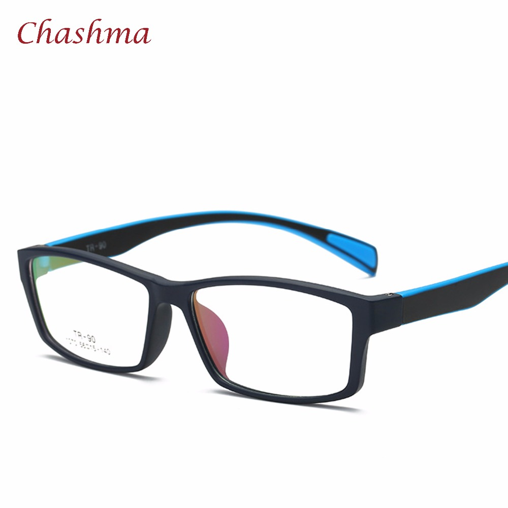 Chashma Brand TR 90 Eyewear Sport Style Optical Glasses Frames Men and Women Black Eye Glasses