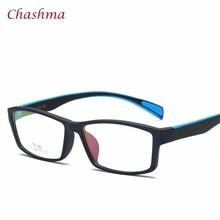 ФОТО tr 90 eyewear sport style optical glasses frames men and women black eye glasses