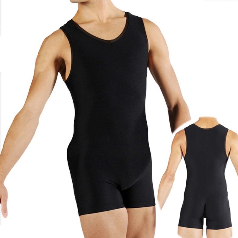 Original Ballet Dance Vest For Men Black Color Sleeveless Tops Male Competitive Adult Professional Ballet Chiffon Leotard N9031
