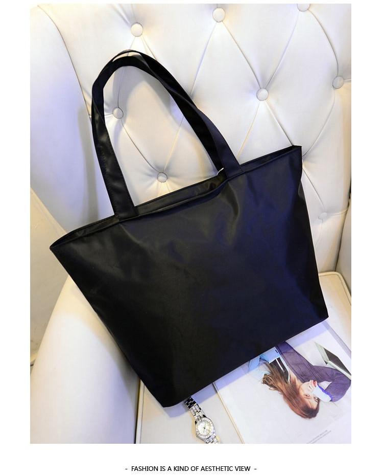 Women Shopping Handbag - Waterproof Shopping Tote Zipper One shoulder bag 5