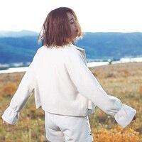 Aporia.King original trumpet sleeve blouse retro coat winter 06002