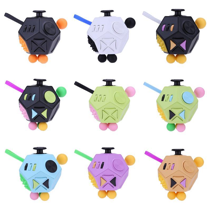 купить 12 Side Magic Cube Generation 2 Relieve Stress EDC Desktop Focus Toy for Kids Adults Decompression Toy Kids Learning Fidget Cube по цене 39.59 рублей