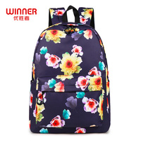WINNER Fashion Women Backpack Flower Printing Female School Rucksack Water Resistant Girls Daily College Laptop Bagpack