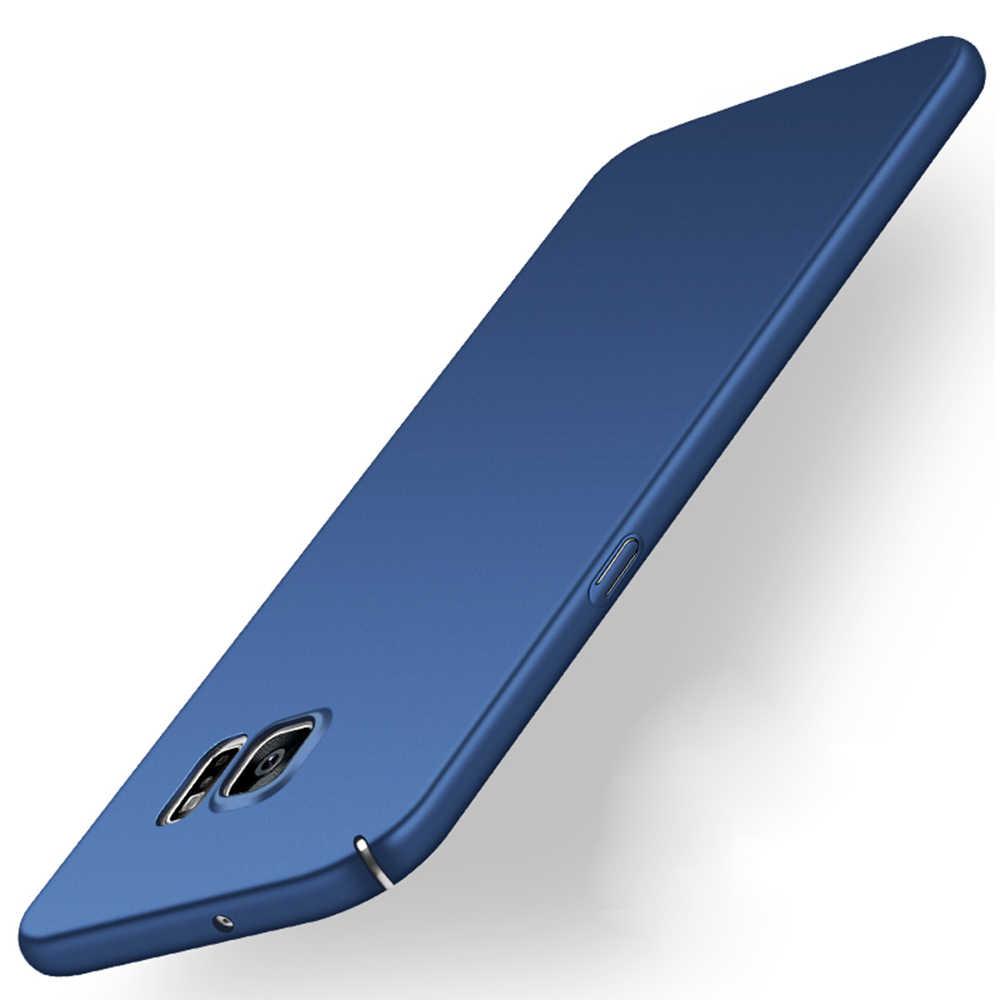 Carcasa delgada y dura de lujo para samsung galaxy S3 S4 S5 S7 S6 Edge S8 Plus duos neo carcasa trasera de plástico 360 protección completa
