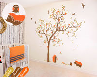 Playroom Tree Wall Decoration Livingroom Wall Decals Nursery Wall Art DIY Removable Wall Paper Size 81