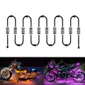 10Pcs 60LED Remote Control LED Motorcycle Atmosphere Lamp Light Color Changing For Brake Lights Modification Kit For Halley