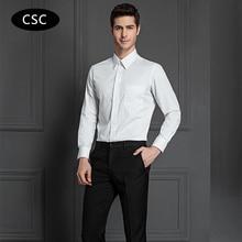 2017 New Men Formal Dress Shirt Solid Twill Cotton Camiseta Masculina Men Long Sleeve Clothing Slim Fit Camisa Social Masculina
