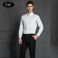 2017 New Men Formal Dress Shirt Solid Twill Cotton Camiseta Masculina Men Long Sleeve Clothing Slim