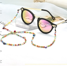 2018 Fashion Women Colorful Beads Eyeglass Reading Glasses Eyewear Chain Holder Cord Necklace Rope