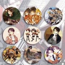 5 pièces offre spéciale Anime attaque sur Titan Cosplay Badge dessin animé broche broches Collection sacs Badges pour sacs à dos bouton vêtements jouets