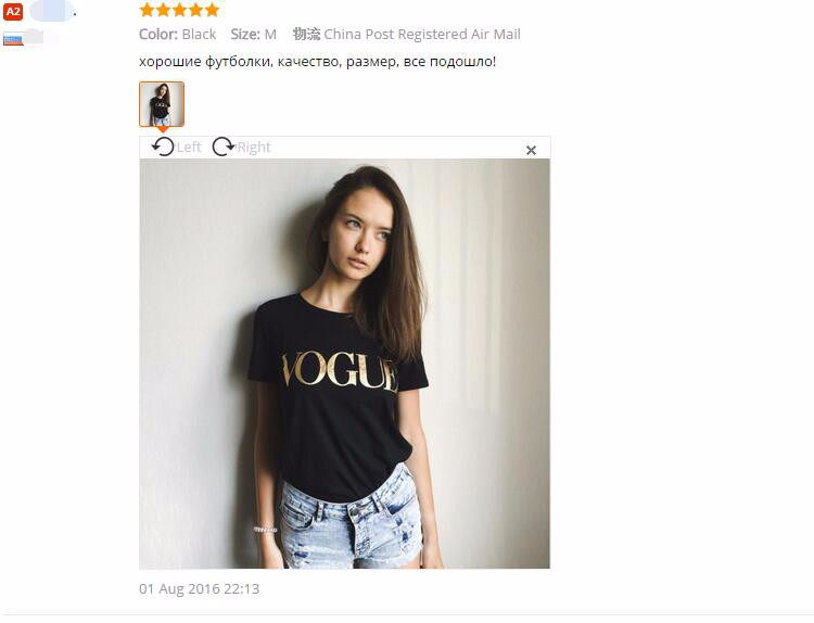HTB15d50NVXXXXcuXXXXq6xXFXXXH - VOGUE Printed T-shirt Women Tops Tee Shirt Femme New Arrivals
