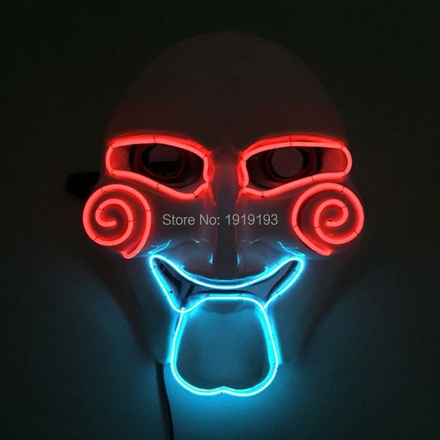 Drama Performance Decor DC3V Sound Activated Led String Chainsaw Demon Mask Holiday Lighting Grotesquue EL Cold & Drama Performance Decor DC3V Sound Activated Led String Chainsaw ...