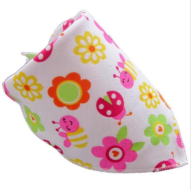 Cotton Infant Baby Kids Bibs Boys Girls Bandana Baberos Bavoir Feeding Burp Towel Saliva Triangle Babador Newborn Clothing Stuff