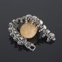 Skull Chain Bracelet [1″ Wide]