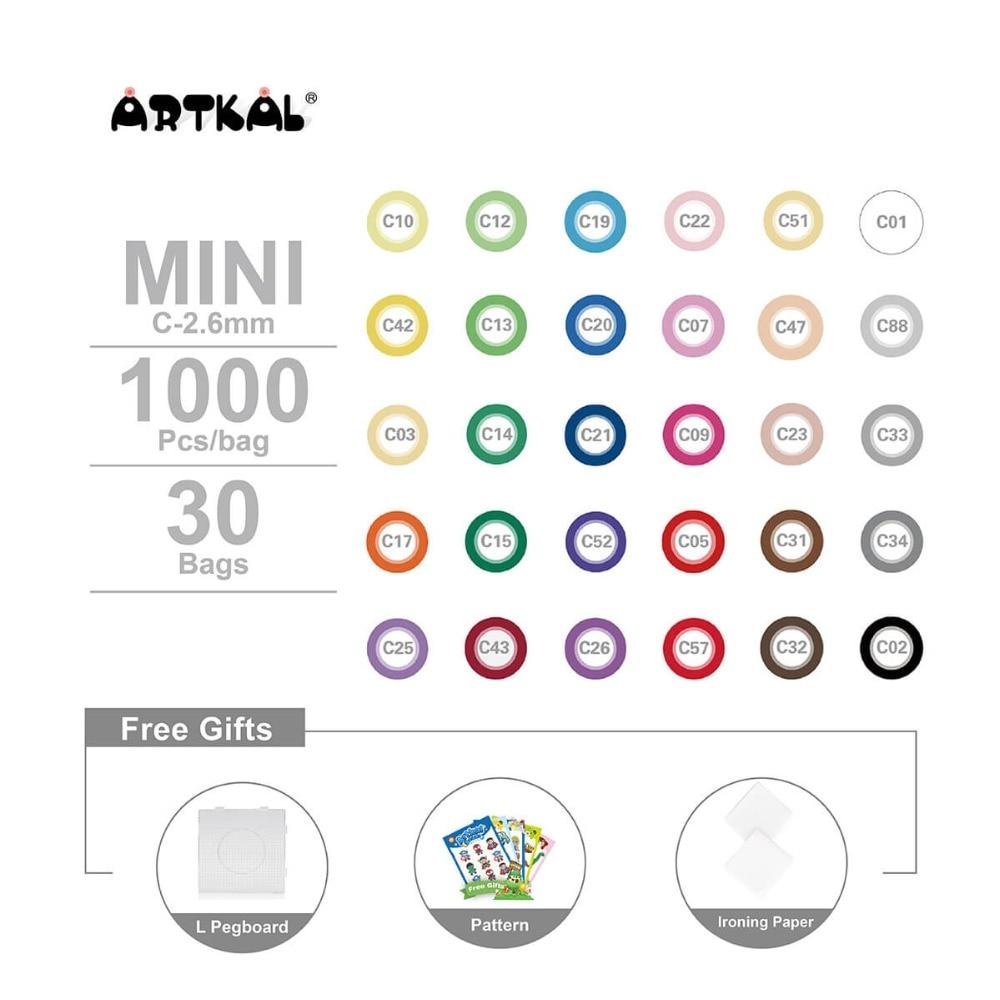 30,000 ədəd Artkal Melty Muncuq C-2.6mm Mini Muncuq DIY Jewerly Set - Bulmacalar - Fotoqrafiya 2
