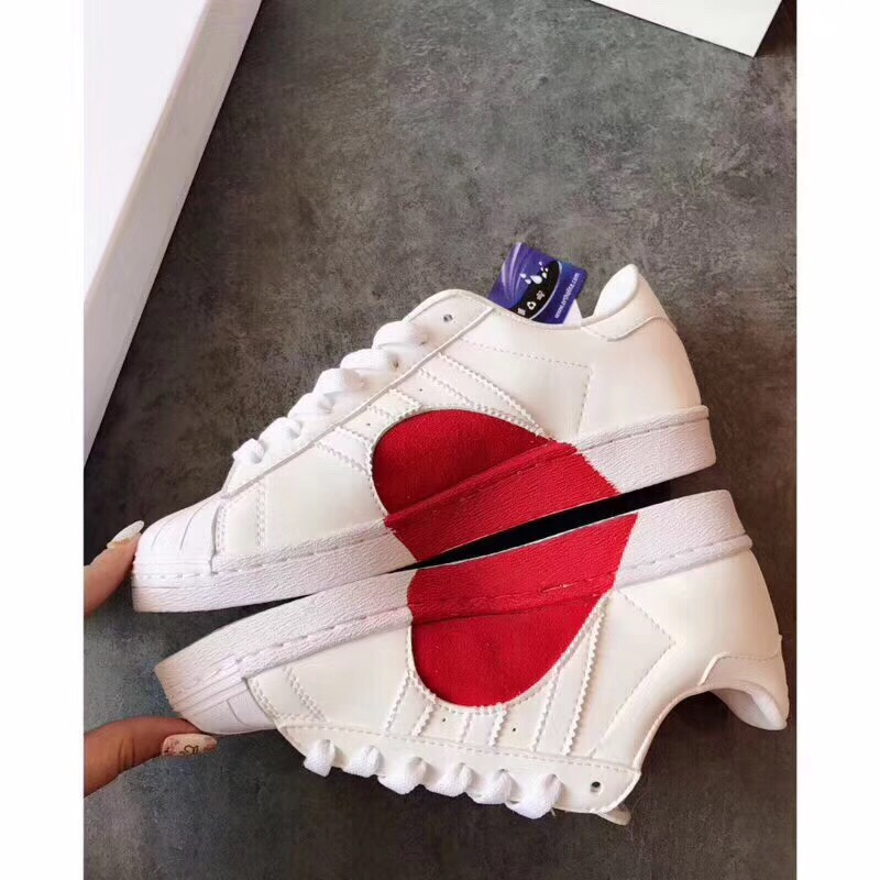 Shoes 2018 Spring New Shoes Love sport Shoes White Shoes Leather Increased Lovers Sneakers