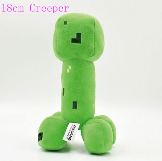 18cm Green Minecraft Creeper Plush Toys Minecraft Cooly Creeper Stuffed Plush Dolls Toys Brinquedos Popular Gifts For Kids