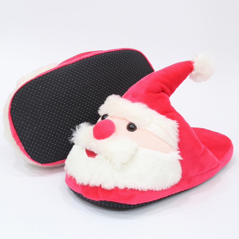 home slippers new winter couples, hard skid, home Santa Claus, floor, cotton indoor slippers, heavy confinement shoes Christmas