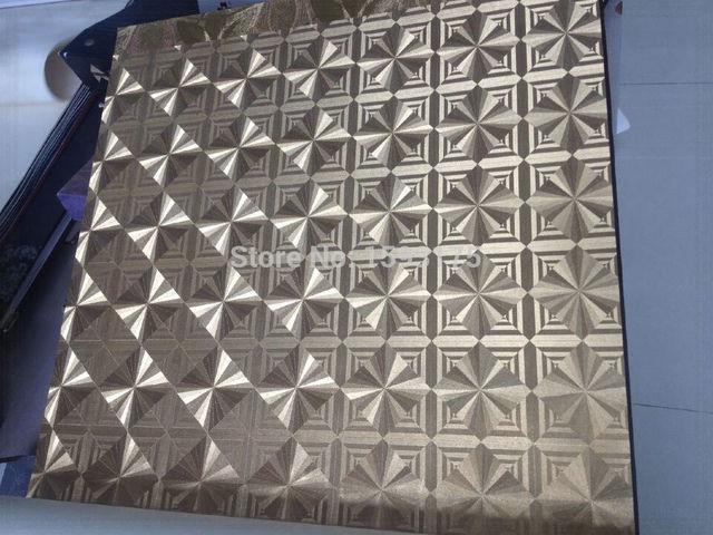 Grosshandel Silber Gold Metallic Tapete 3d Roll Luxus Gitter Glitter