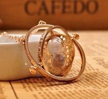 2016 Hot Selling Harry potter necklace time turner necklace hourglass Harry Potter Necklace Hermione Granger Rotating Spins