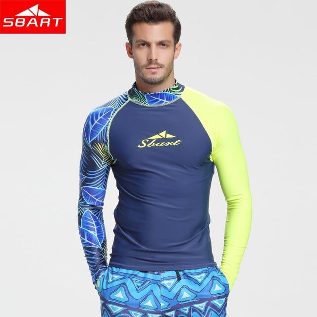 f0dff41f074 SBART Long Sleeve Swimwear Men Rashguard Surfing Diving Shirt Clothing UV  Protection Rash Guard Bodysuit Plus size Swimsuit L