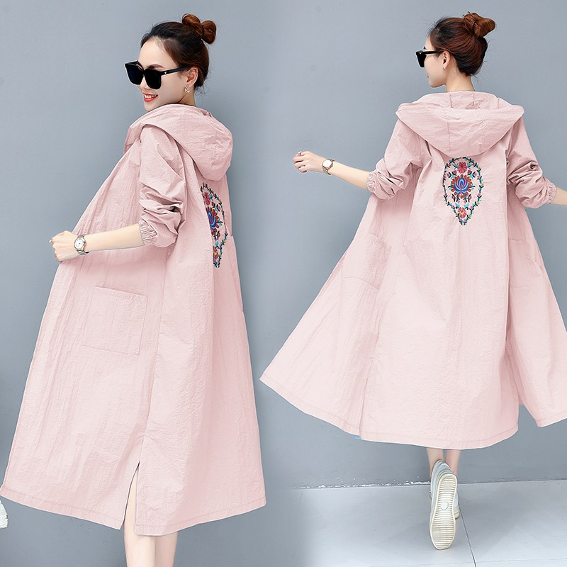 Women Summer Hooded Kimono Cardigan Long Sleeve Floral Embroidery   Blouses   Loose Boho Blusa   Shirts   Plus Size   Shirt   2019