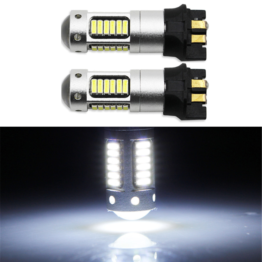 <font><b>PW24W</b></font> Xenon White LED Bulbs Front Turn Signal Lights For A3 A4 A5 MK7 Golf CC Ford F30 3 Series DRL image