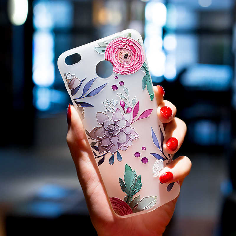 Étui de téléphone pour Xiaomi Redmi 4X 4A Note 4X Note 5A 3D étui de secours pour Xiaomi 5X A1 TPU fleurs en Silicone coques de téléphone portable