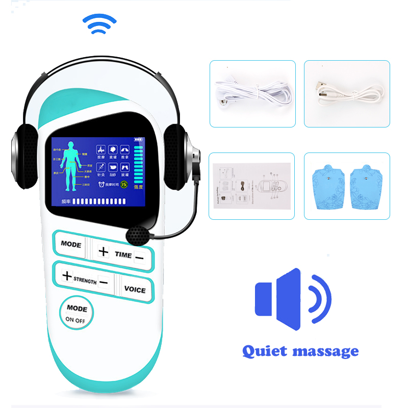 Electronic Pulse Massager Digital Meridian Therapy Machine Body Relax Muscle Pulse Tens Acupuncture Medical Physiotherapy Device electrical muscle stimulator body relax therapy massage device electric pulse tens acupuncture digital meridian massager 10 pads
