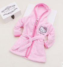 Spring Autumn Baby Soft Coral Fleece Bathrobe girls hello kitty Sleepwear Robe 2 – 8 Years Old Children