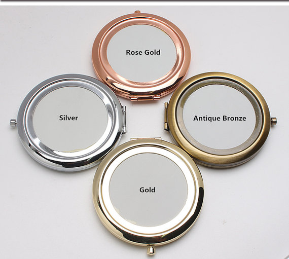 Pocket Mirror Blank Compact Mirror Kits 58mm Frame Two Sided with Epoxy Sticker Bridesmaid Gift Supply