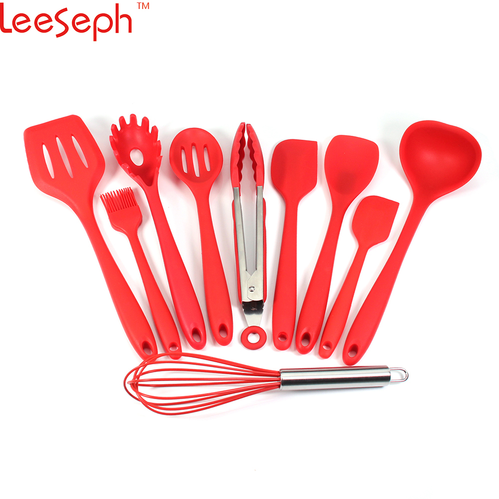 Silicone Spatula Spoon Kitchenware Turner Ladle Basting Brush