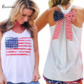 Fashion Women Tops Tees Summer Casual O-Neck Sleeveless Print Bowknot T-shirt for Women Cotton Loose Top Blusas Feminina