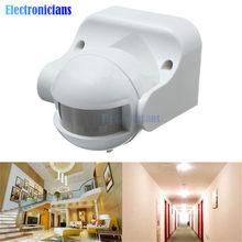 Détecteur de mouvement infrarouge PIR, interrupteur de sécurité, 12m, 50Hz, 3-2000LUX, 220-240V AC, 50Hz, 180 degrés, extérieur, IP44