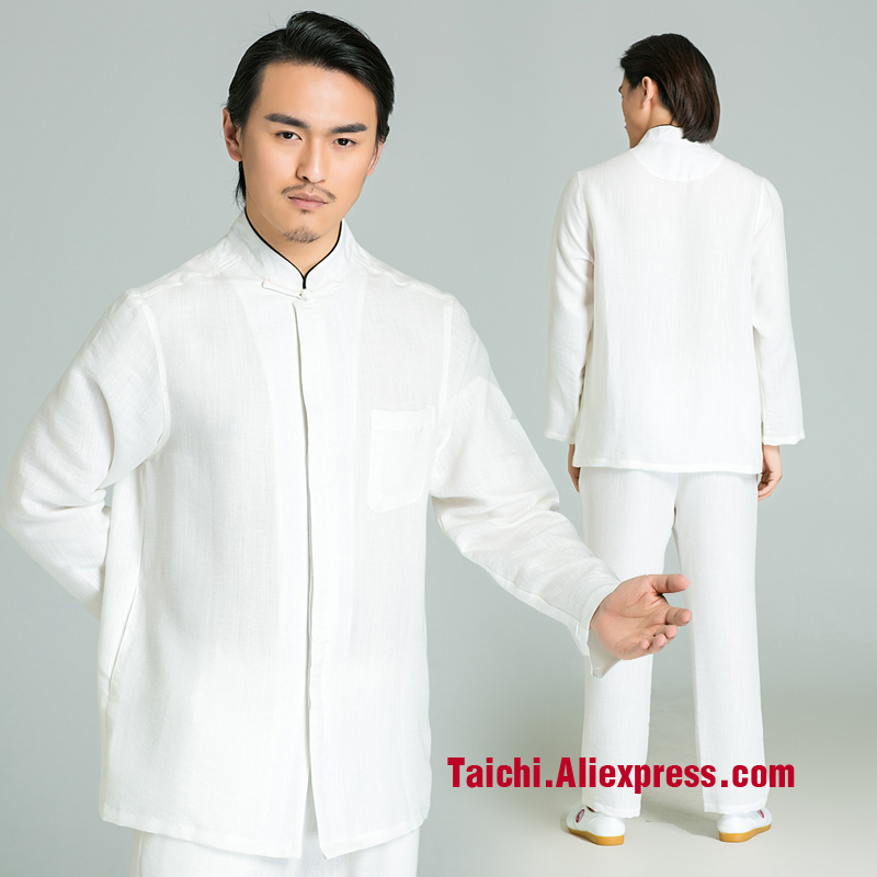 Handmade Linen Tai Chi Uniform Wushu, Kung Fu,martial Art Suit,Traditional Suits Meditation,white