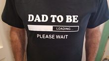 Dad to Be T Shirt Father To New Baby Daddy Pregnancy Shower Gift Shirts Funny Tops Tee Unisex