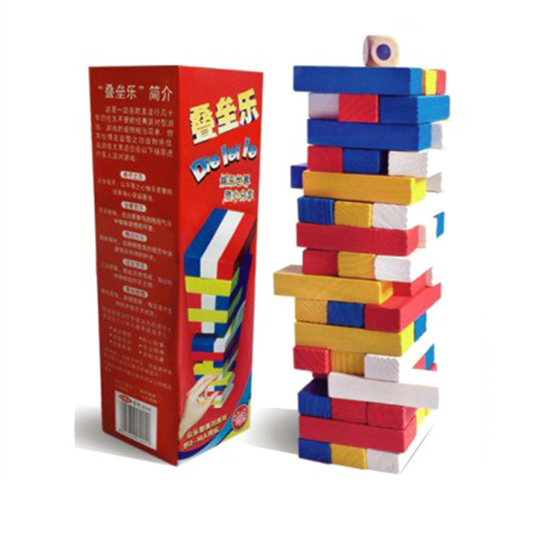 Pequeno Torre Pilas Juego De Mesa 48 Unids Colorido Proteccion Del