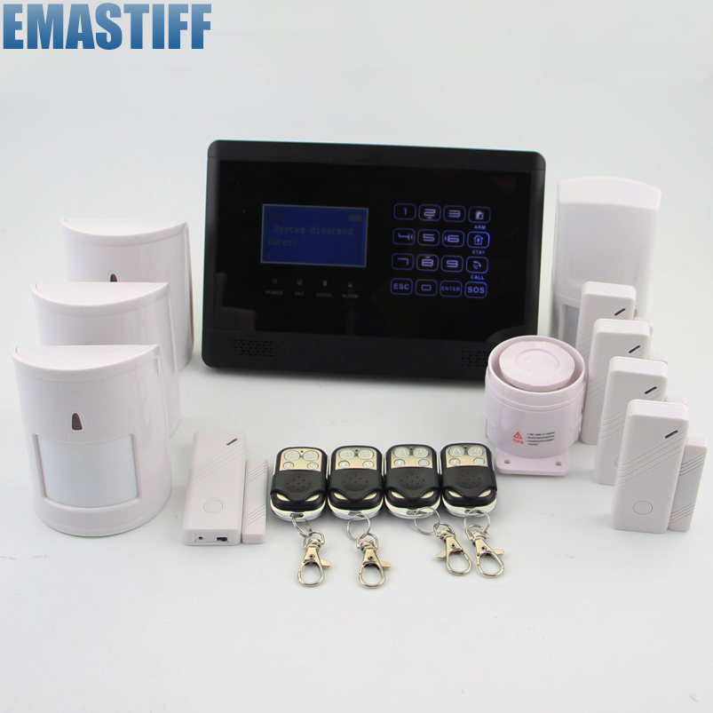 eMastiff LCD Wireless GSM Home Burglar Intruder Alarm System, Pet Friendly PIR Detectors ,Door gap sensors ацетиленовый резак донмет р1 142а 6 6 св000000625