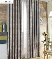 Silk Flower Jacquard Window Curtains Heavy Fabric High Quality With Silver 3D Wire Emboss 60 Black