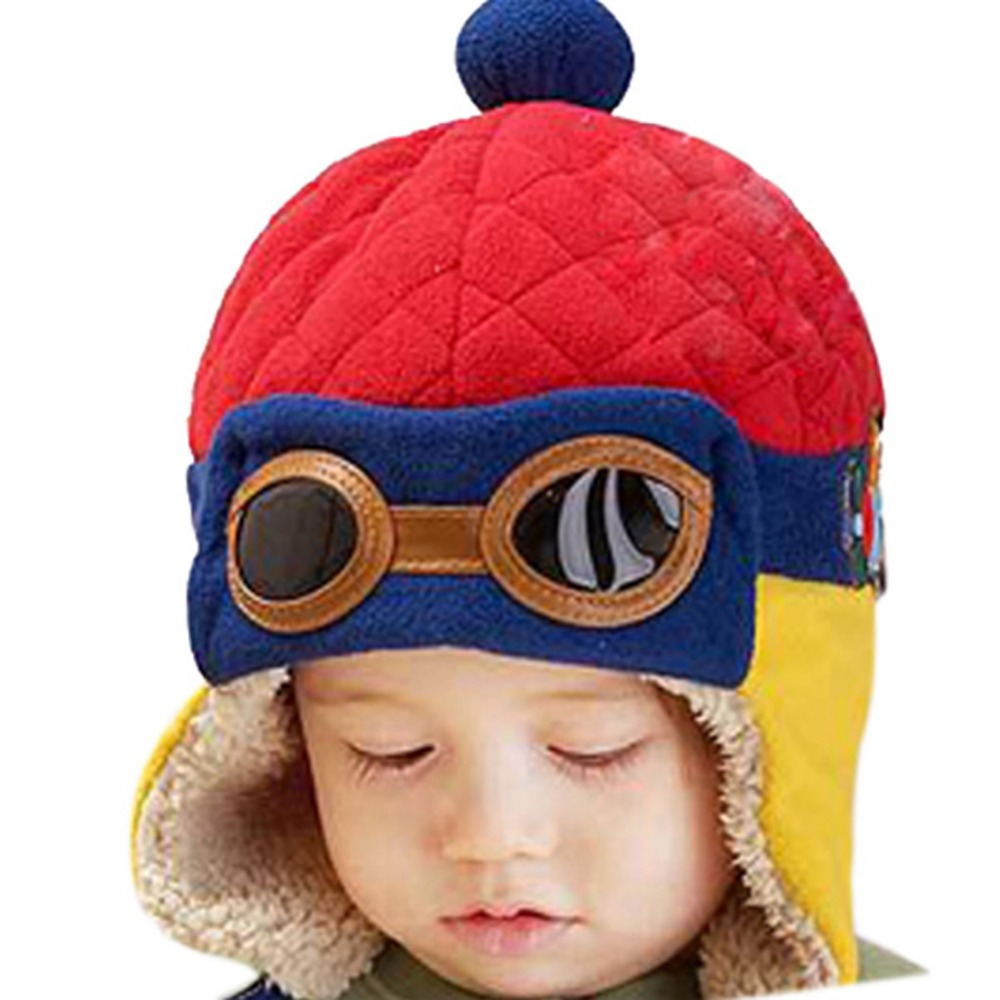 e0a59d9b5fd Hot sales Toddlers Cool Baby Boy Girl Kids Infant Winter Pilot Warm Cap Hat  Beanie -in Hats   Caps from Mother   Kids on Aliexpress.com