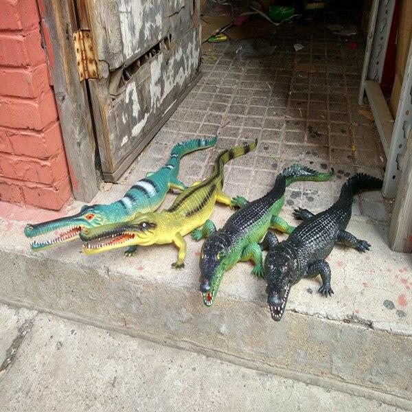 75 cm Simulation artificielle peluche en plastique Crocodile jouet Animal Action modèle nouveauté enfants Surprise cadeaux d'anniversaire enfants jouets