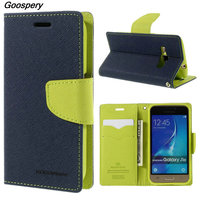 Mercury Goospery Double Color Leather Flip Case Cover For Samsung Galaxy S4 S5 S6 S8 A3