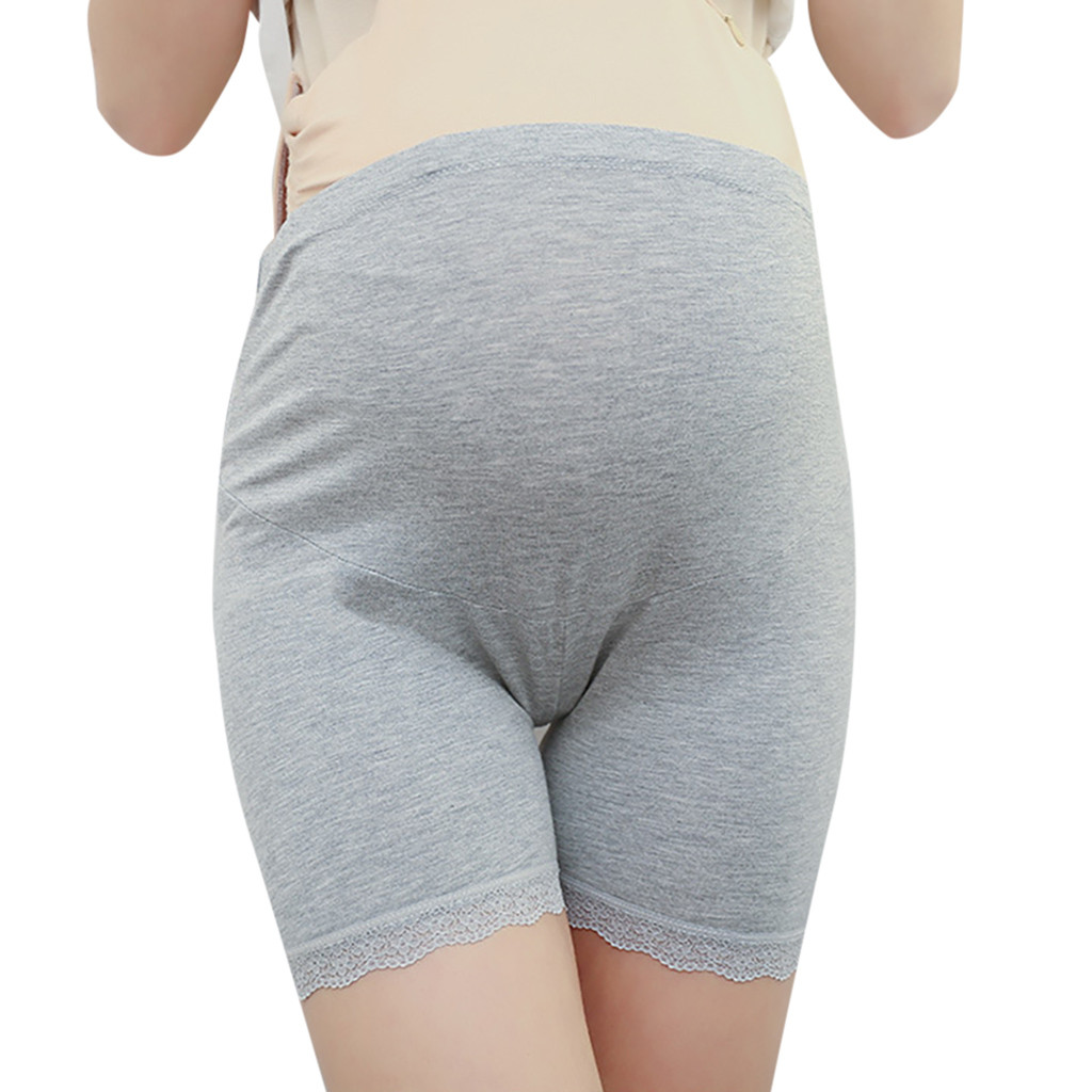 Shorts Maternity Pregnant-For Lace Lady Pants Underwear Adjustable Flat-Edge Comfy Soft title=