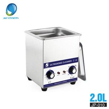 Skymen Mekanik Tombol Ultrasonic Cleaner Mandi 2L 60 W 110/220 V Bagian Ultrasonic Cleaner Pembersih Gigi