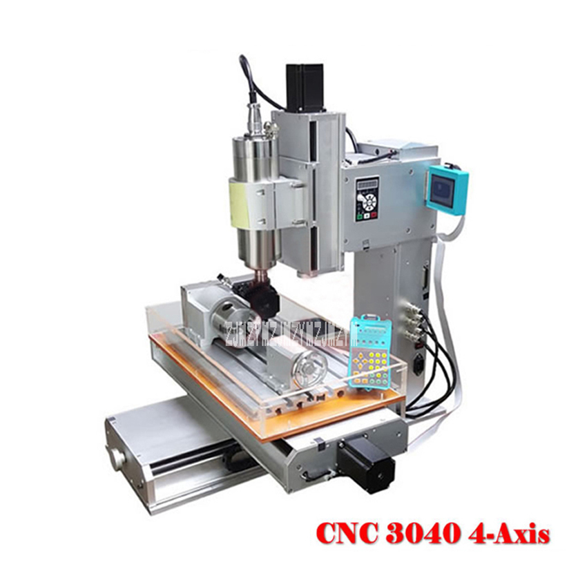 Малый 3040 4 оси Гравировальный машина колонки Тип гравер машина рабочего DIY деревообрабатывающий резчик машины 1500 Вт 110 В/220 В