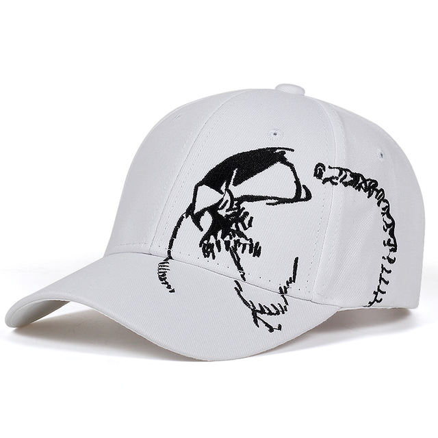 SKULL EMBROIDERY CAPS (3 VARIAN)