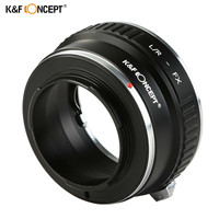 K&F CONCEPT L/R FX Lens Mount Adapter Ring For Leica R Mount Lens to Fujifilm FX Mount Camera Adapter