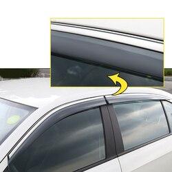 4 sztuk Car Styling dym okno osłona przeciwdeszczowa deflektor straż dla Nissan Pickup 2009-2018 akcesoria