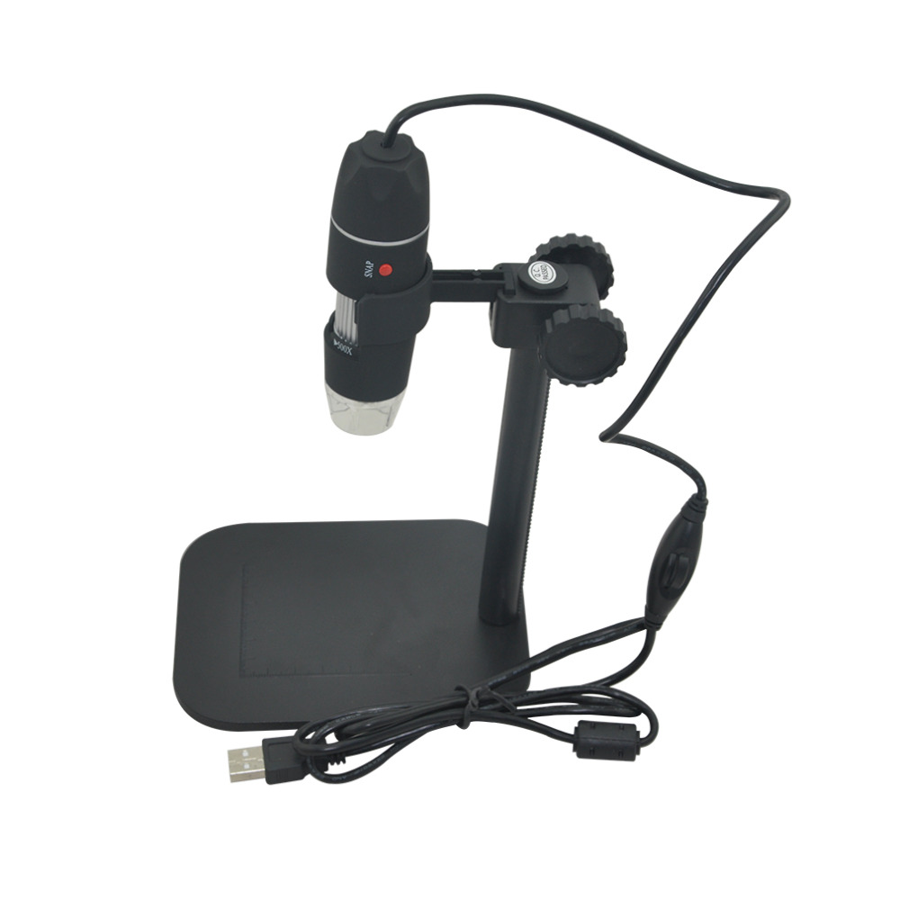 Microscopio Digital LED práctico Microscopio USB cámara electrónica 5MP 8 endoscopio lupa 50X ~ 500X ampliación medida nueva